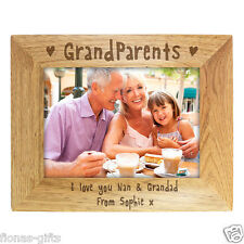 Personalised GRANDPARENTS Wooden Photo Picture Frame 5x7 8x10 Gift Keepsake