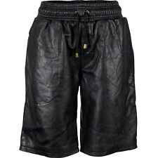 VIPARO Black Lambskin Leather Shorts - Westbrook