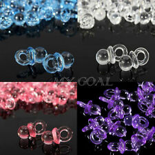 50/100X Mini Pacifier Dummy Charms Baby Shower Party Favour Nappy Cake Decor DIY