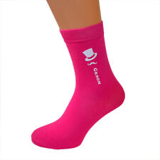 Hot Fuschia Pink Coloured Wedding Cotton Rich Socks, FREE UK P&P. Ref Col TopHat