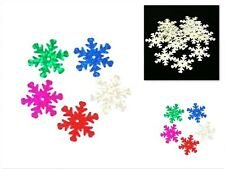 10g Snowflake Sequins Christmas Confetti & Frozen Parties - 20mm - lady-muck1