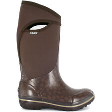 LADIES BOGS PLIMSOLL LEAF BROWN INSULATED NEOPRENE WARM WELLINGTON BOOTS 71112