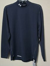 Under Armour Fitted Mock Turtleneck Shirt Cg Mens 1215483 410 blue M-2XL Nwt$50