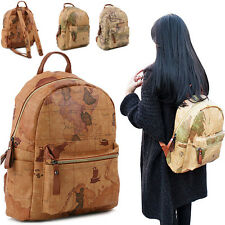 Copi [Free shipping] Backpack for unisex.World Map Backpack. Casual Bag.