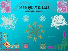 1000+ Quilt & Lace Embroidery Machine Pattern Designs PES Brother Baby Lock CD