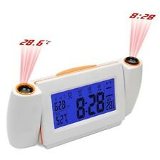 Digital LED Dual Laser Wall Projector Projection Alarm Time Clock Temperature
