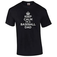 Keep Calm I'm A Baseball Dad Big And & Tall T-Shirt Funny Sports Father Mens Tee