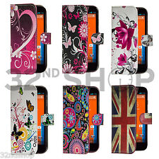 Wallet leather case cover fits Motorola Moto G 2 (2014 ) Screen Protector