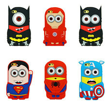 Hot! 3D New Cartoon Superhero Soft Silicone Rubber Case Cover For iPhone&Samsung