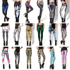 Women Sweet 3D Graphic Colourful Printed Leggings Tights Pant Yoga Trousers PEUS