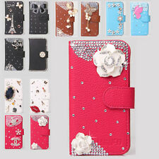 Crystal Color Flower Wallet Leather Flip Case Cover for Various SAMSUNG Phone