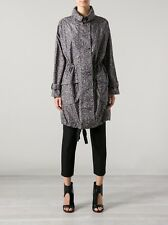 NWT MM6 by MAISON MARTIN MARGIELA SIZE 40 42 4 6 JACKET COAT GRAY PRINT