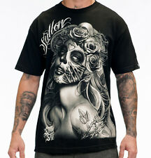 Sullen Men's Querida Muerte T Shirt Black  Tattoo Art StreetwearSkate Urban Ink