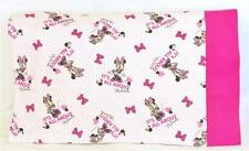Personalized PILLOWCASE Girls Gift MINNIE MOUSE Disney Flannel TRAVEL Size