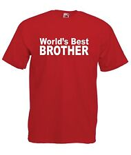 WORLDS BEST BROTHER christmas birthday present gift top ideas mens womens TSHIRT