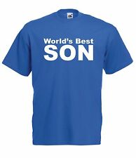WORLDS BEST SON christmas birthday party gift present ideas boys girls T SHIRT