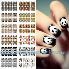 New Luminous Glow Full WRAPS Leopard Tiger Animal Nail Art Stickers Tips Decals