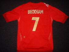 England BECKHAM Shirt Boys Girl Youth Umbro Football Soccer Jersey S-XL Age 6-14