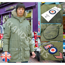 Mens Parka Coat Lambretta Mod Scooter Carnaby Innocenti Original Fishtail Jacket