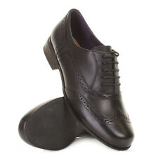 Womens Clarks Hamble Black Leather Lace Up Brogue Work Ladies Shoes Uk Size