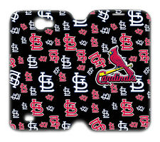 MLB Baseball St. Louis Cardinals Samsung Galaxy Note 2 Leather Case AQ132501