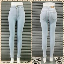 New High Waisted Jeans Women Skinny Classic Jeans Light Jeans White Denim Pants