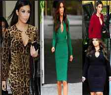 DS02 Ladies Fashionable Celeb Long Sleeve Bodycom Stretchable Party  Dress