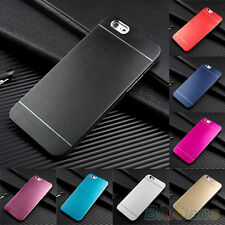 Cool Metal Brushed Hard Back Case Cover Skin For Apple iPhone 6 4.7'' Plus 5.5''