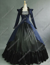 Gothic Victorian 3-PC Gown Period Dress Theatre Reenactment Costume Punk 167