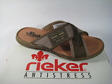 Rieker Men's Mules Canvas Brown / Inside Sole Leather New