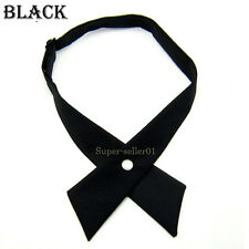 HOT Fashion Women Men Emcee Waiter Solid Color Party Wedding Bow Ties Necktie