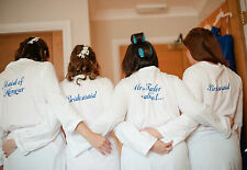Dressing Gowns Robe Personalised with Name Ladies Womens Cotton Wedding Hen Gift