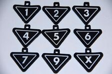 NEW Callaway headcover number tags FREE SHIP indicator 1, 2, 3, 4, 5, 6, 7, 9, X