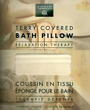 Earth Therapeutics Terry Covered Bath Pillow Inflatable Spa Travel Bathtub NEW