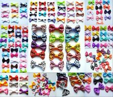 Wholesale Assorted Dog Cat Pet Girls Ribbon Hair Bows Clothes Appliques Crafts