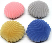 Fashion Sea Shell Ring Pendant Clam Shaped Jewelery Box Xmas Bday Gift Boxes