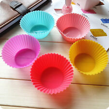 8pcs Soft Silicone Round Cake Muffin Chocolate Cupcake Liner Baking Cup Mold