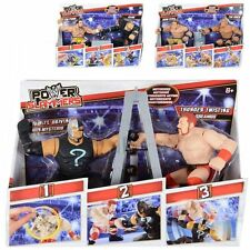 NEW KIDS OFFICIAL WWE POWER SLAMMERS WRESTLING ACTION FIGURE TOY  & RING