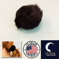 LUXURY Real Genuine Rabbit Fur Hair Band Elastic Hair Bobble Pony Tail Holder