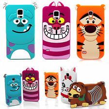 Cute 3D Cartoon Silicone Case Cover for Apple Samsung Galaxy S3 S4 S5 Note 2 3