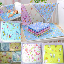 New Cotton Reusable Baby Infant Waterproof Urine Mat Cover Burp Changing Pad