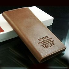 NEW Mens Long Leather Wallet Pockets Card/ID Holder Clutch Bifold Purse 2 Colors