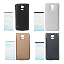 US 7000mAh Extended Battery + Black White Blue Cover for Samsung Galaxy S5 i9600