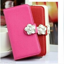 Camellia Leather Card Holder Wallet Case Cover For Sony Xperia MOBILE PHONES