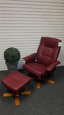 Brand New Luxury PU Leather Restwell Cleveland Recliner Massage Chair Foot Stool