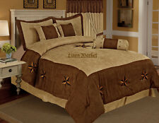 Texas Star Western Luxory Comforter Suede - 7 Pieces Set