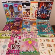 TEMPORARY TATTOOS ASSORTED TYPES ALL BRAND NEW FREE SHIPPING