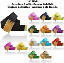 Brand New Canvas Military Web Belt Shiny Buckle Wholesale 13 Colors Webbing