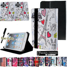 "FOLIO LEATHER STAND CASE COVER FIT Acer Iconia 7"" 8"" & 10.1"" Tablets + STYLUS"
