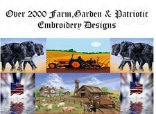 2000+ Country & Farming  Embroidery Machine Pattern Designs PES HUS JEF DST VP3